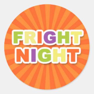 Fright Night Round Sticker