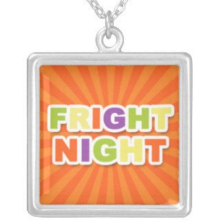 Fright Night Square Pendant Necklace