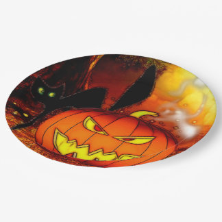 Fright Nights Halloween Party 9 Inch Paper Plate