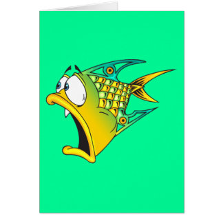 Frightened Fish Note Card