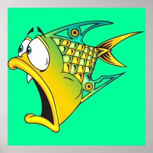 Frightened Fish Print