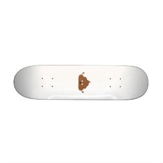 Frightened poo 20.6 cm skateboard deck