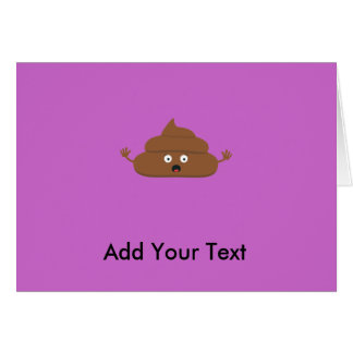 Frightened poo greeting card