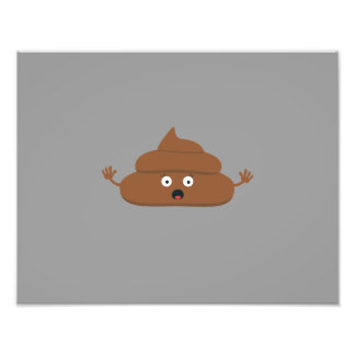 Frightened poo photo print
