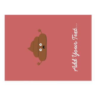 Frightened poo postcard