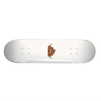 Frightened poo skateboard deck
