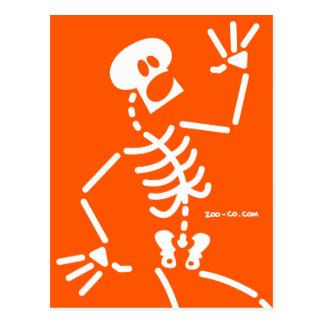 Frightened Skeleton Postcards