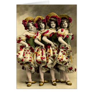 Frightening Cancan Dancers Cards