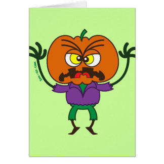 Frightening Halloween Scarecrow Emoticon Card