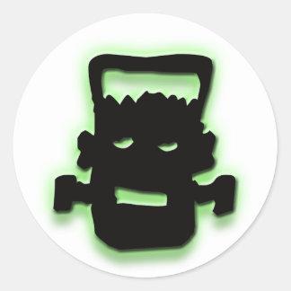 Frightful Frankie Classic Round Sticker