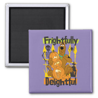 Frightfully Delightful Square Magnet