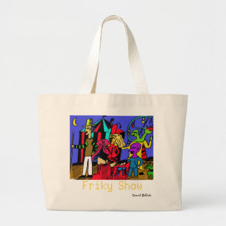 friky show large tote bag