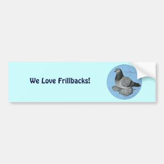 Frillback Blue Grizzle Car Bumper Sticker