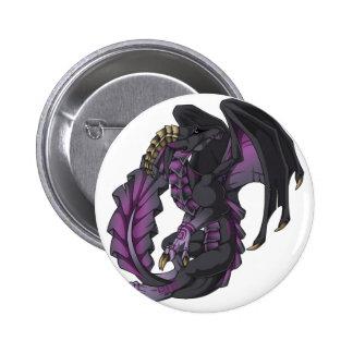Frilled Dragon 6 Cm Round Badge