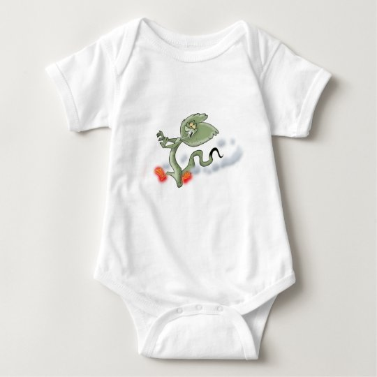 Frilled Lizard Baby Bodysuit