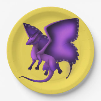Frilly Butterfly Dragon Paper Plates