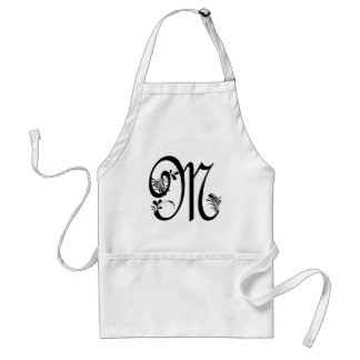 Frilly M Monogram Aprons