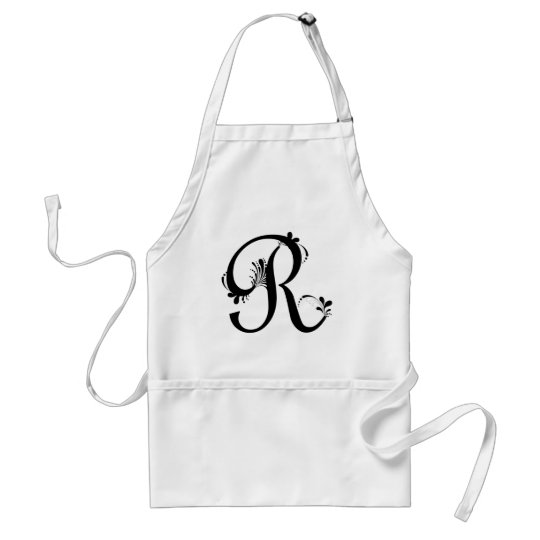 Frilly R Monogram Standard Apron
