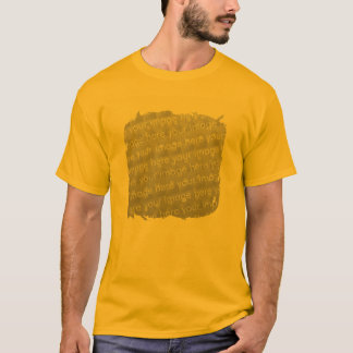 Fringe Border Design Effect T-Shirt
