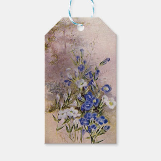 Fringed Gentian Botanical Wildflower Gift Tags