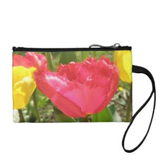 Fringed Tulips Bagettes Bag Coin Wallet