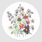Fringeflowers and Velvet Trumpet Flowers Classic Round Sticker