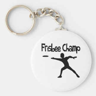 Frisbee Champ Basic Round Button Key Ring