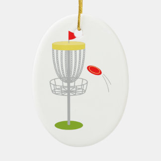 Frisbee Disc Golf Christmas Ornament