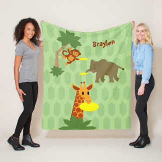 Frisbee Jungle Fleece Blanket