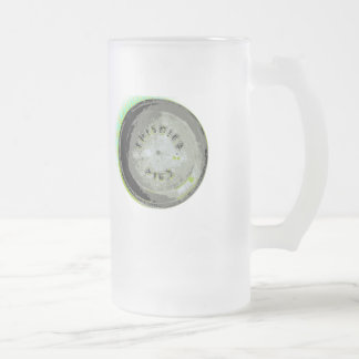 Frisbee Pie Tin Earth Colors Frosted Glass Mug