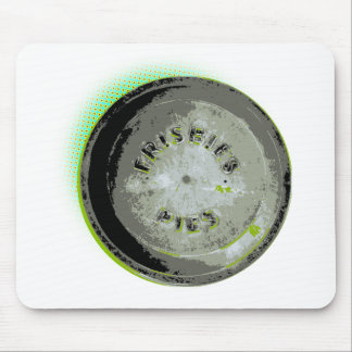 Frisbee Pie Tin Earth Colors Mouse Pad