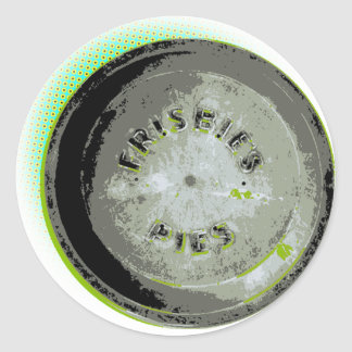 Frisbee Pie Tin Earth Colors Round Sticker