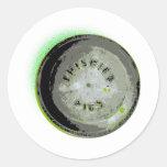 Frisbee Pie Tin Earth Colours Round Sticker