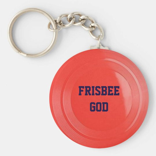 Frisbee Texture Personalised Keychain