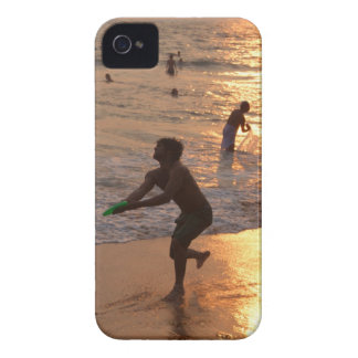 Frisbee Thrower on Varkala Beach at Sunset iPhone 4 Covers