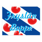Frisian Flag customisable text Fryslan Boppe Postcard