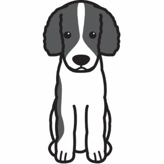 Frisian Water Dog Cartoon Cut Out