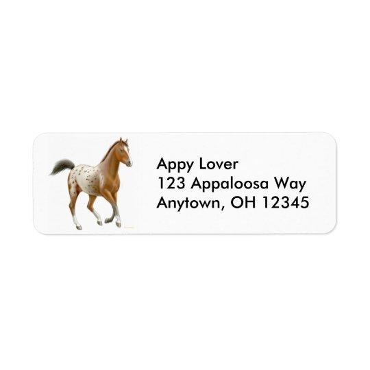 Frisky Appaloosa Horse Label Return Address Label