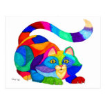 Frisky cat postcard