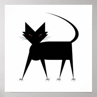 Frisky Cat Poster