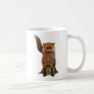 Frisky Foxes Basic White Mug