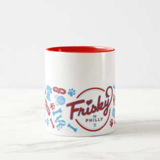 Frisky In Philly: Collage Design Coffee Mug