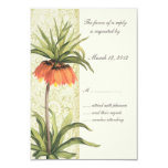 "Fritillaria Floral Wedding Invitation RSVP 1 3.5"" X 5"" Invitation Card"