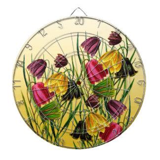 Fritillaria Flowers On Yellow Dartboard