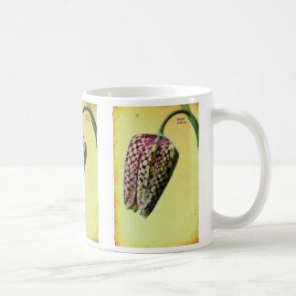 Fritillaria meleagris basic white mug