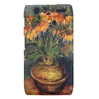 Fritillaries in a Copper Vase by Van Gogh Motorola Droid RAZR Cover