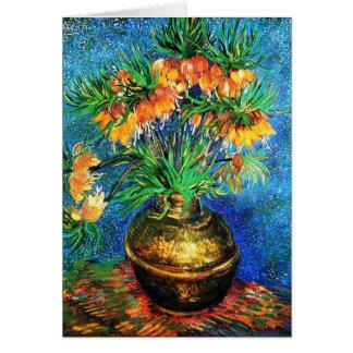 Fritillaries in a Copper Vase Van Gogh Fine Art Note Card