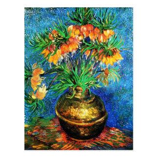 Fritillaries in a Copper Vase Van Gogh Fine Art Postcard