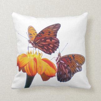 Fritillary Butterfly Sunflower Flower Throw Pillow