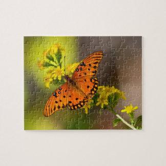 Fritillary Gulf Butterfly Jigsaw Puzzle